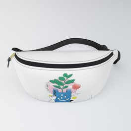 ABSTRACT WHITE RABBIT BAG SURREALISM Fanny Pack