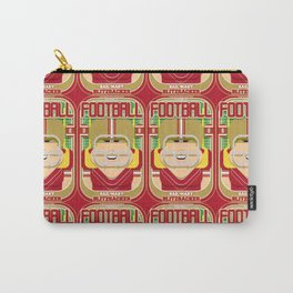 American Football Red and Gold - Hail-Mary Blitzsacker - Hazel version Carry-All Pouch