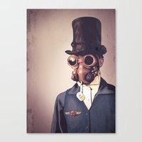 steampunk Canvas Prints featuring Steampunk by FalcaoLucas
