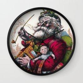Victorian Santa Claus - Thomas Nast Wall Clock