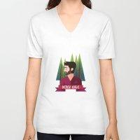 derek hale V-neck T-shirts featuring DEREK HALE - FORREST by UniversoAlternativo