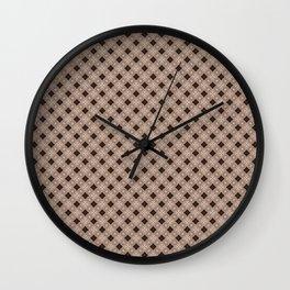 Wood Texture Trellis Wall Clock