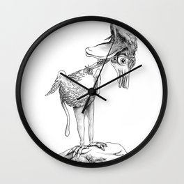 Crazy Bird Wall Clock