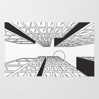 buildings Area & Throw Rugs featuring Buildings by Koral Feria