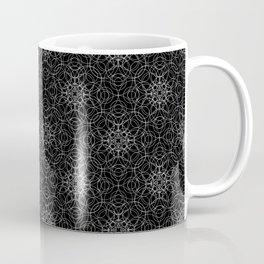 delicate lace - white on black Coffee Mug
