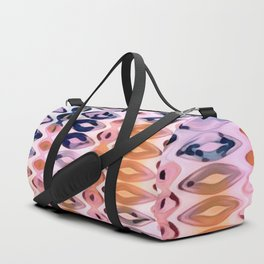 Vertical Diamonds Pink Tangerine Duffle Bag