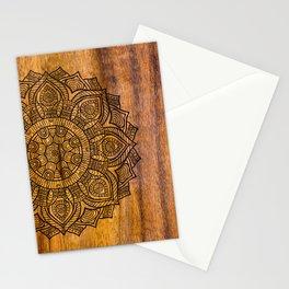 Mandala on Wood Stationery Cards