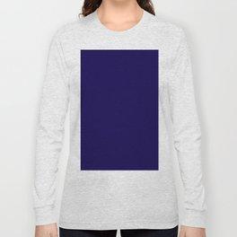 Simply Navy Blue Long Sleeve T-shirt