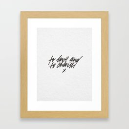 To Love and To Cherish - wedding vows print Framed Art Print