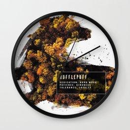 Hufflepuff Nature Wall Clock