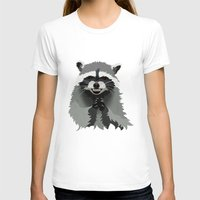 racoon T-shirts featuring Diabolical Racoon by Elise Cayouette