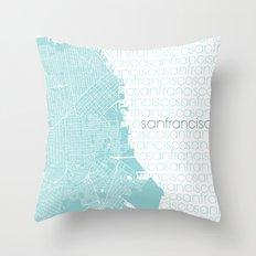 WE LOVE SF Throw Pillow
