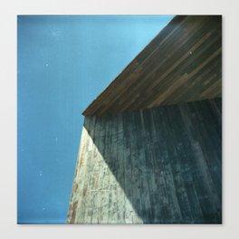 Urban Wood Lines Canvas Print