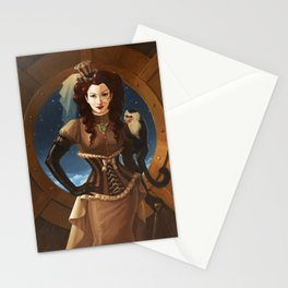 """Capuchin"" Steampunk Pin-Up Stationery Cards"