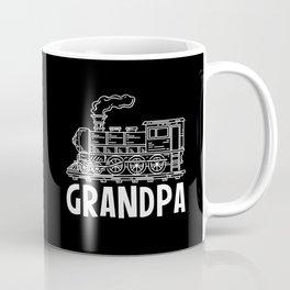 Funny Railroad Grandpa Gift For Train Driver Coffee Mug