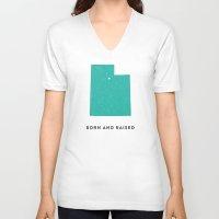 utah V-neck T-shirts featuring Utah by Hunter Ellenbarger