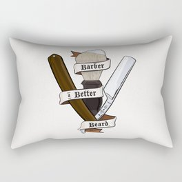 Barber a Better Beard Rectangular Pillow