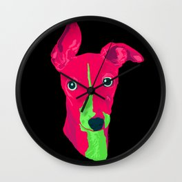 italian greyhound - blk Wall Clock
