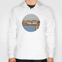 boats Hoodies featuring Docked Boats  by Chris Klemens