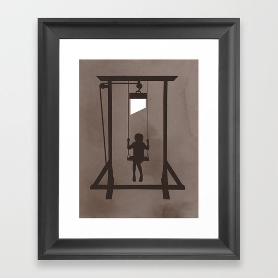 Swing Blade Framed Art Print