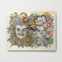 Mars and Venus - Botanical Love Metal Print