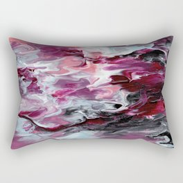 Raspberry Marble Rectangular Pillow