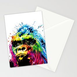 Rainbow Gorilla Stationery Cards