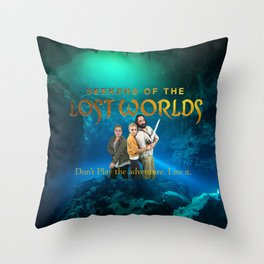 Seekers of the Lost Worlds Throw Pillow