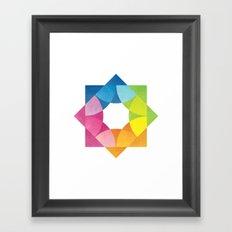 Blending Logo Framed Art Print
