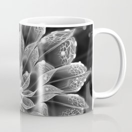 BnW Fractal Dahlia Flower via Electron Microscope Coffee Mug