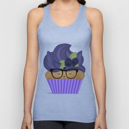Blueberry Cuppycat Unisex Tank Top
