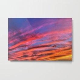 colorful clouds x Metal Print