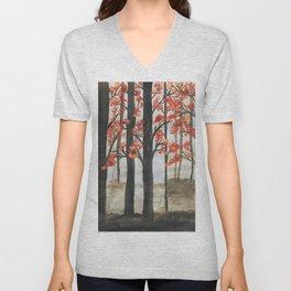 Misty forest - Autumn beauty Unisex V-Neck