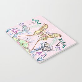 Chinese Moon Moth and Butterflies Notebook