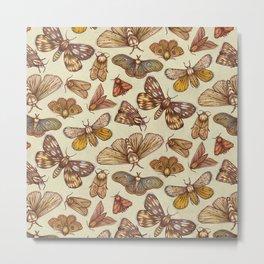 Moth Pattern Metal Print