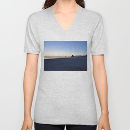 Cannon Beach Sunset 2 Unisex V-Neck