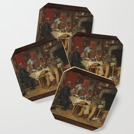 A Pastoral Visit, by Richard Norris Brooke, 1881 . An African American family Coaster