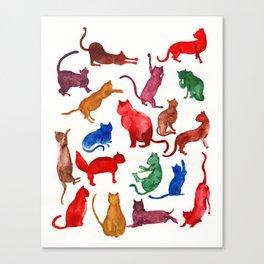 Rainbow Cats Canvas Print