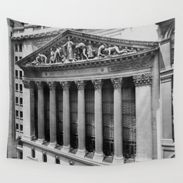 Vintage NYC Stock Exchange Photograph (1908) Wall Tapestry