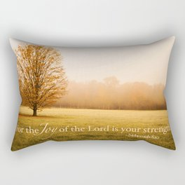 Joy and Strength - Nehemiah 8:10 Rectangular Pillow