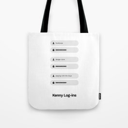 Kenny Log-ins Tote Bag