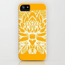 Golden Yellow Lotus iPhone Case