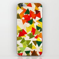 the lights iPhone & iPod Skins featuring Lights by SensualPatterns