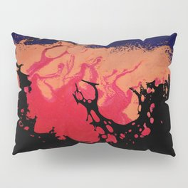 Red, Orange and Black Halloween Night; Fluid Abstract 5 Pillow Sham
