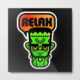 Frankie Says Relax Metal Print