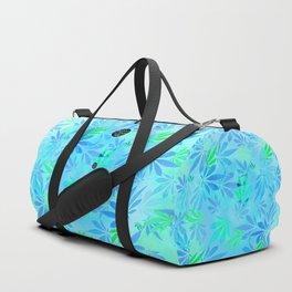 Blue Mint Cannabis Swirl Duffle Bag
