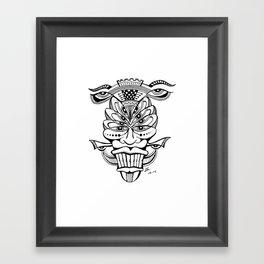 Multi-Eyed Mask Framed Art Print