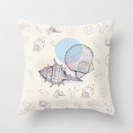 Seaside Cottage Beach Boi - Collab w Freezing Paint Throw Pillow