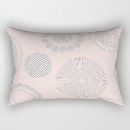 Gray flowers Rectangular Pillow