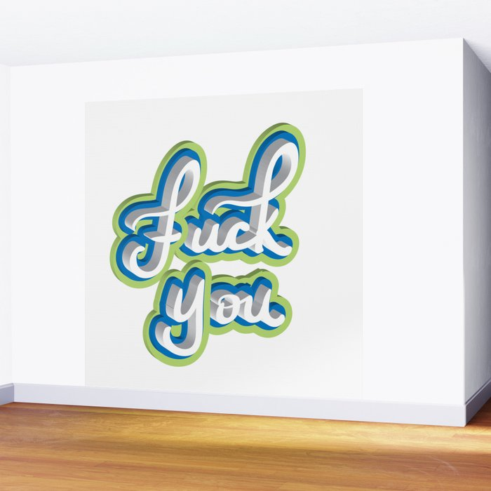 Adult Swear Word Wall Mural